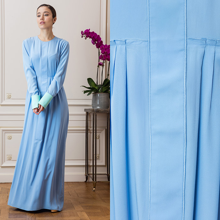 Blue full-length dress