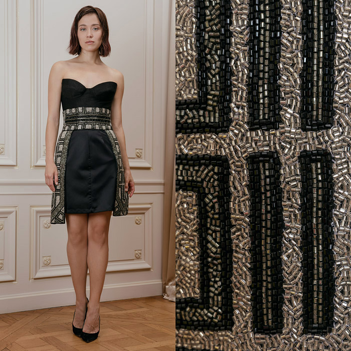 Black skirt with embroideries