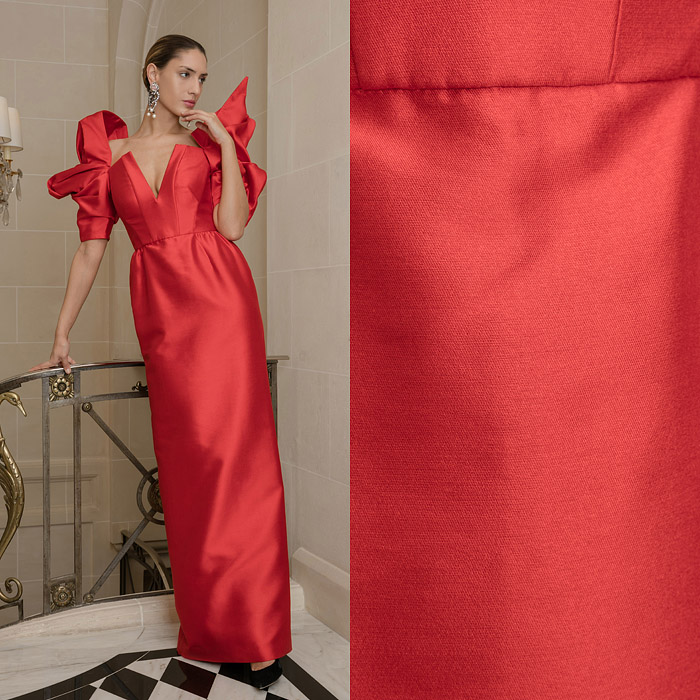 Red sheath gown
